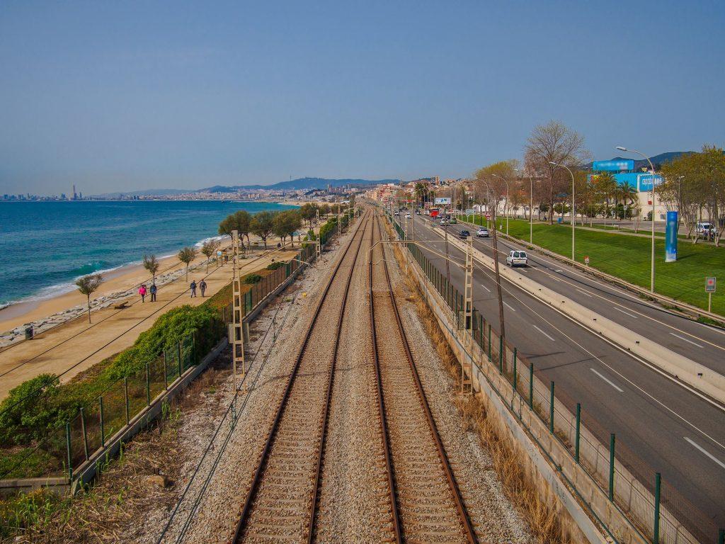 Xarxa ferroviària a la costa catalana